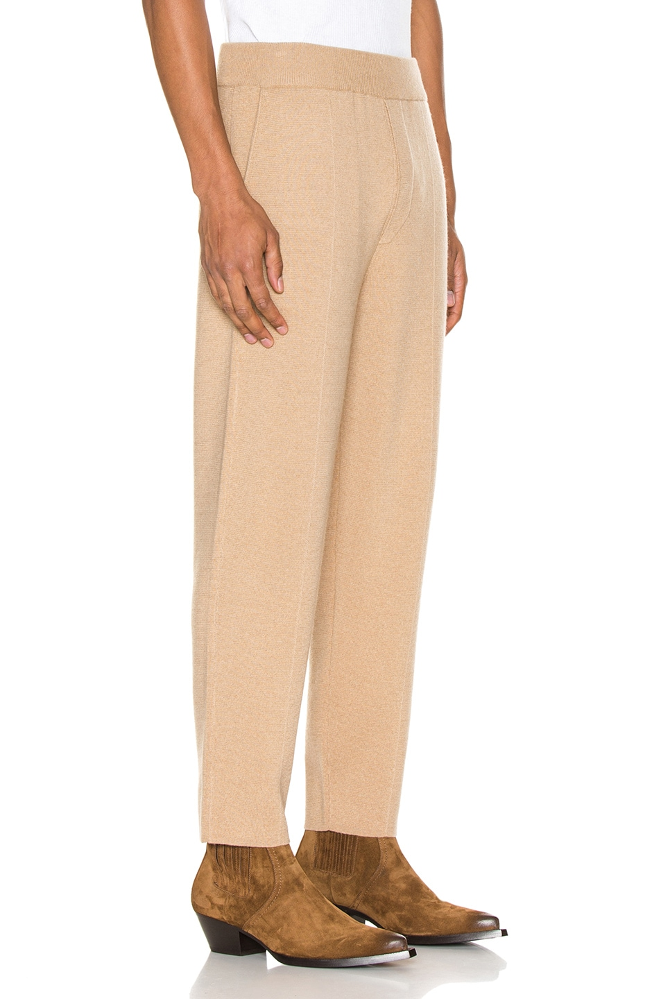 Image 2 of Haider Ackermann Knitted Trousers in Invidia Camel