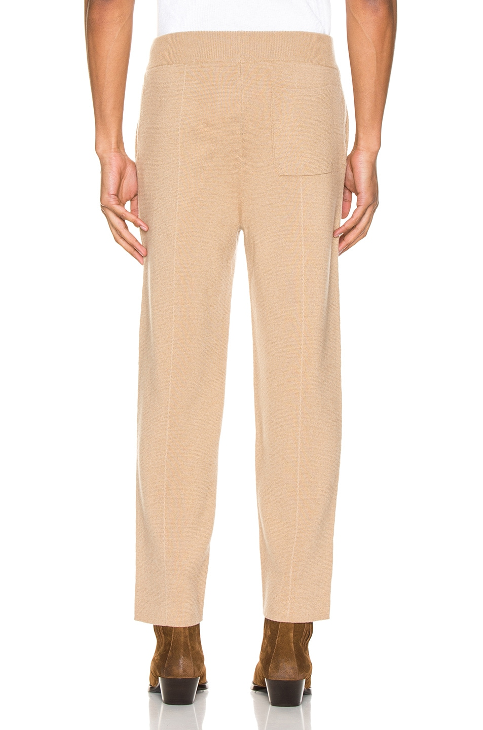 Image 3 of Haider Ackermann Knitted Trousers in Invidia Camel