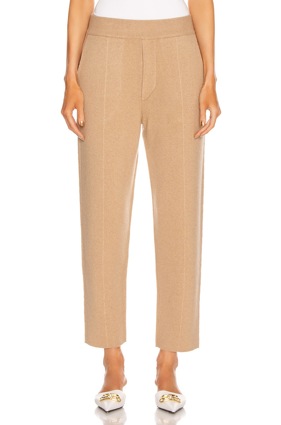 Image 1 of Haider Ackermann Knitted Trousers in Invidia Camel