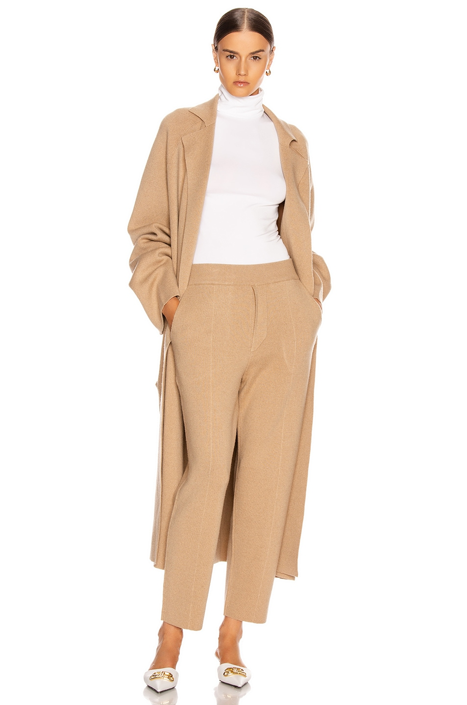 Image 4 of Haider Ackermann Knitted Trousers in Invidia Camel