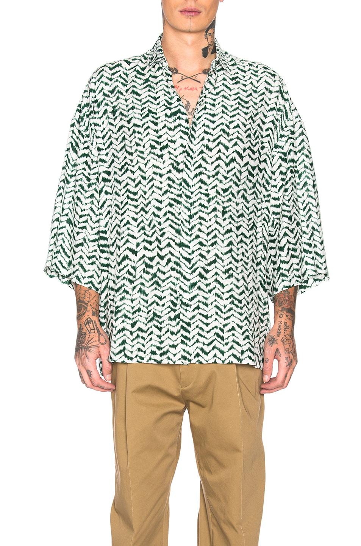 Image 1 of Haider Ackermann Short Sleeve Shirt in Greenfield Green