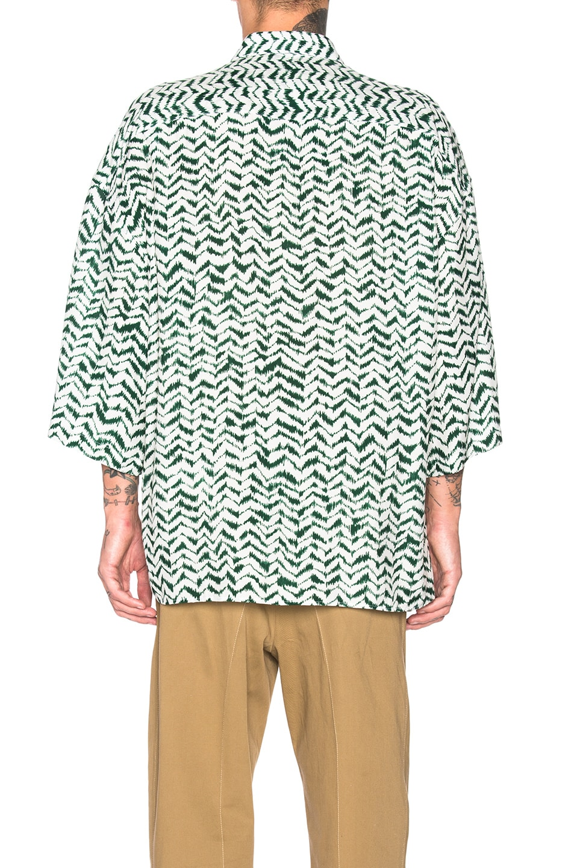 Image 3 of Haider Ackermann Short Sleeve Shirt in Greenfield Green