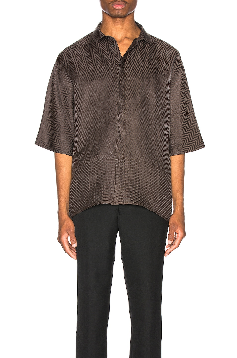 Image 1 of Haider Ackermann Kimono Shirt in Athenaes Brown