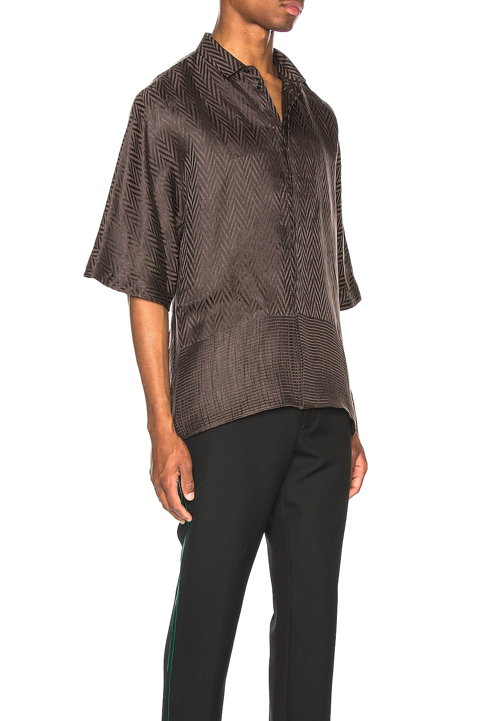 Image 2 of Haider Ackermann Kimono Shirt in Athenaes Brown