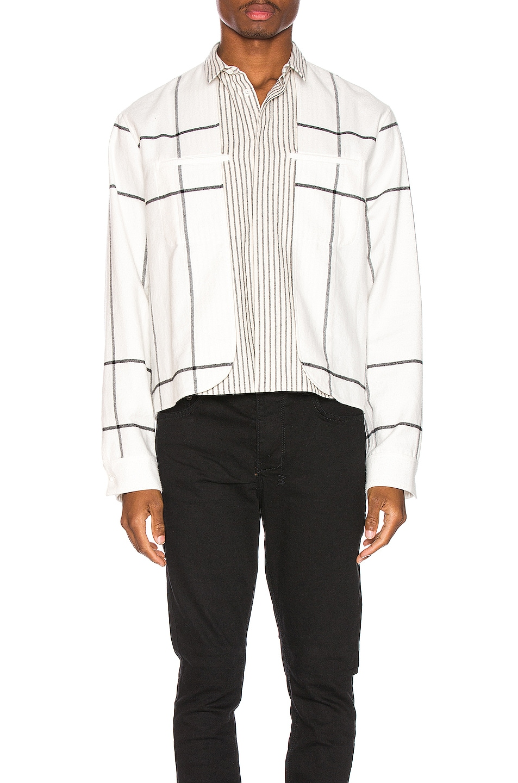 Image 1 of Haider Ackermann Double Layer Shirt in Machoi White