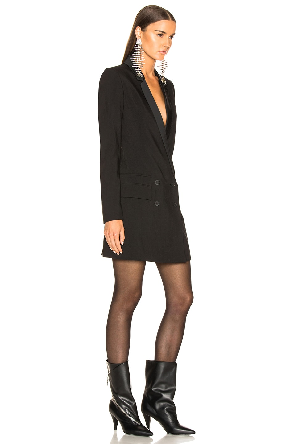Image 2 of Haider Ackermann Double Breasted Blazer Dress in Black