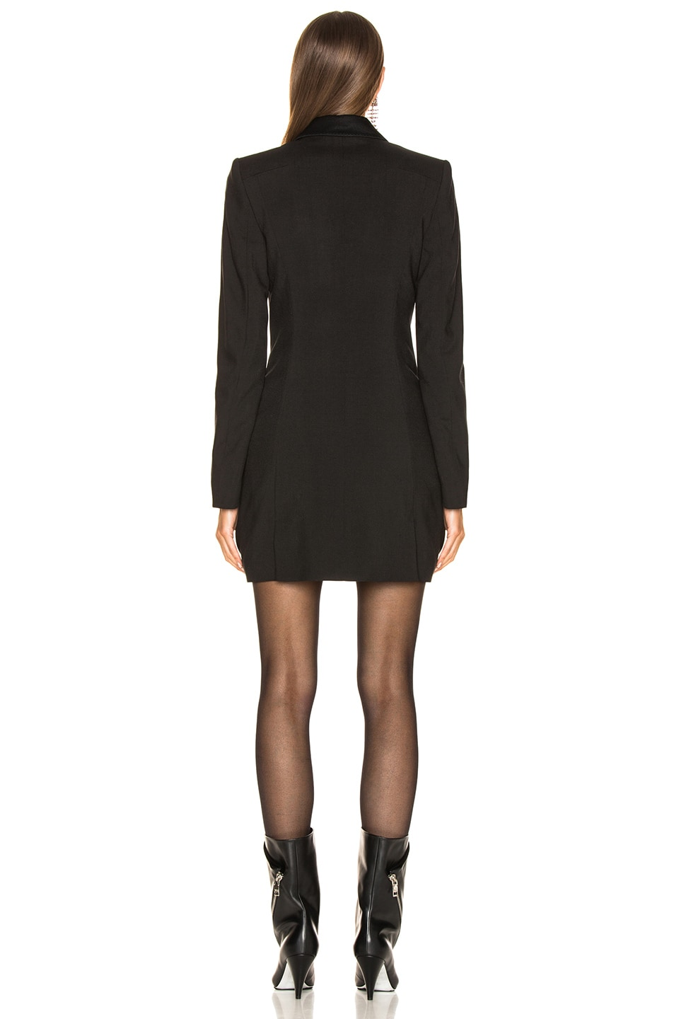 Image 3 of Haider Ackermann Double Breasted Blazer Dress in Black