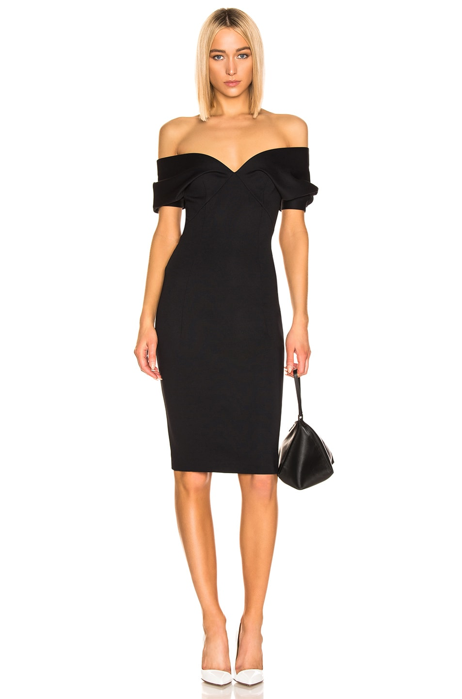 Image 1 of Haider Ackermann Short Drape Dress in Mankora Black