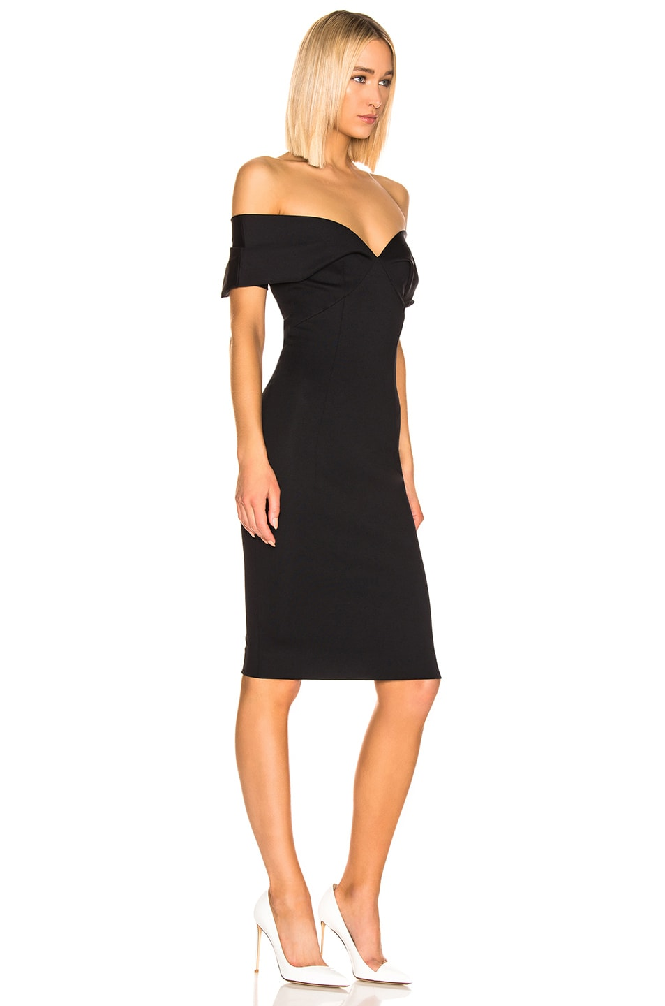 Image 2 of Haider Ackermann Short Drape Dress in Mankora Black