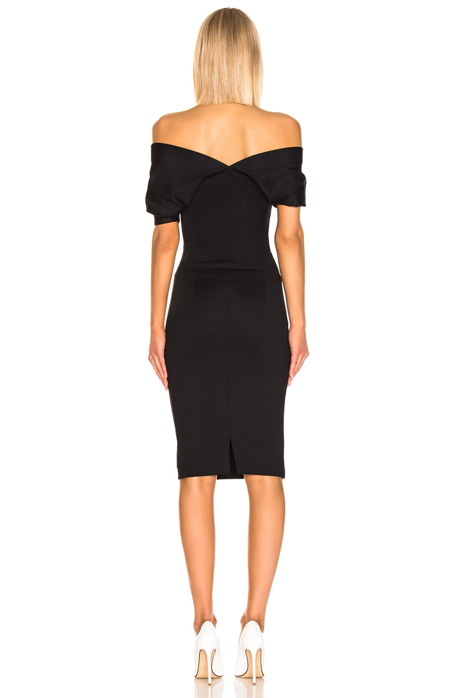 Image 3 of Haider Ackermann Short Drape Dress in Mankora Black