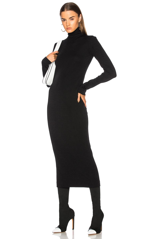 Haider Ackermann Turtleneck Sweater Dress in Black   FWRD