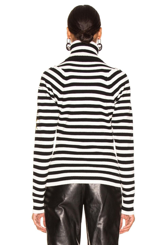 Image 3 of Haider Ackermann Striped Turtleneck Sweater in Invidia Black & Invidia Ivory