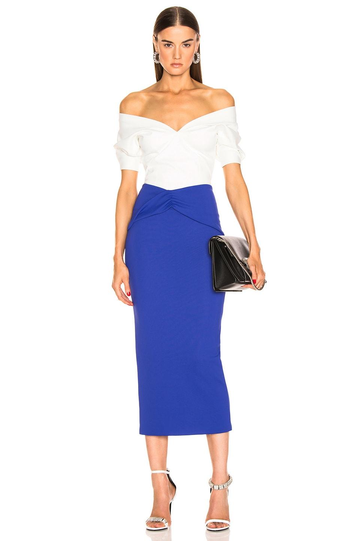 Image 4 of Haider Ackermann Drape Skirt in Mankora Blue