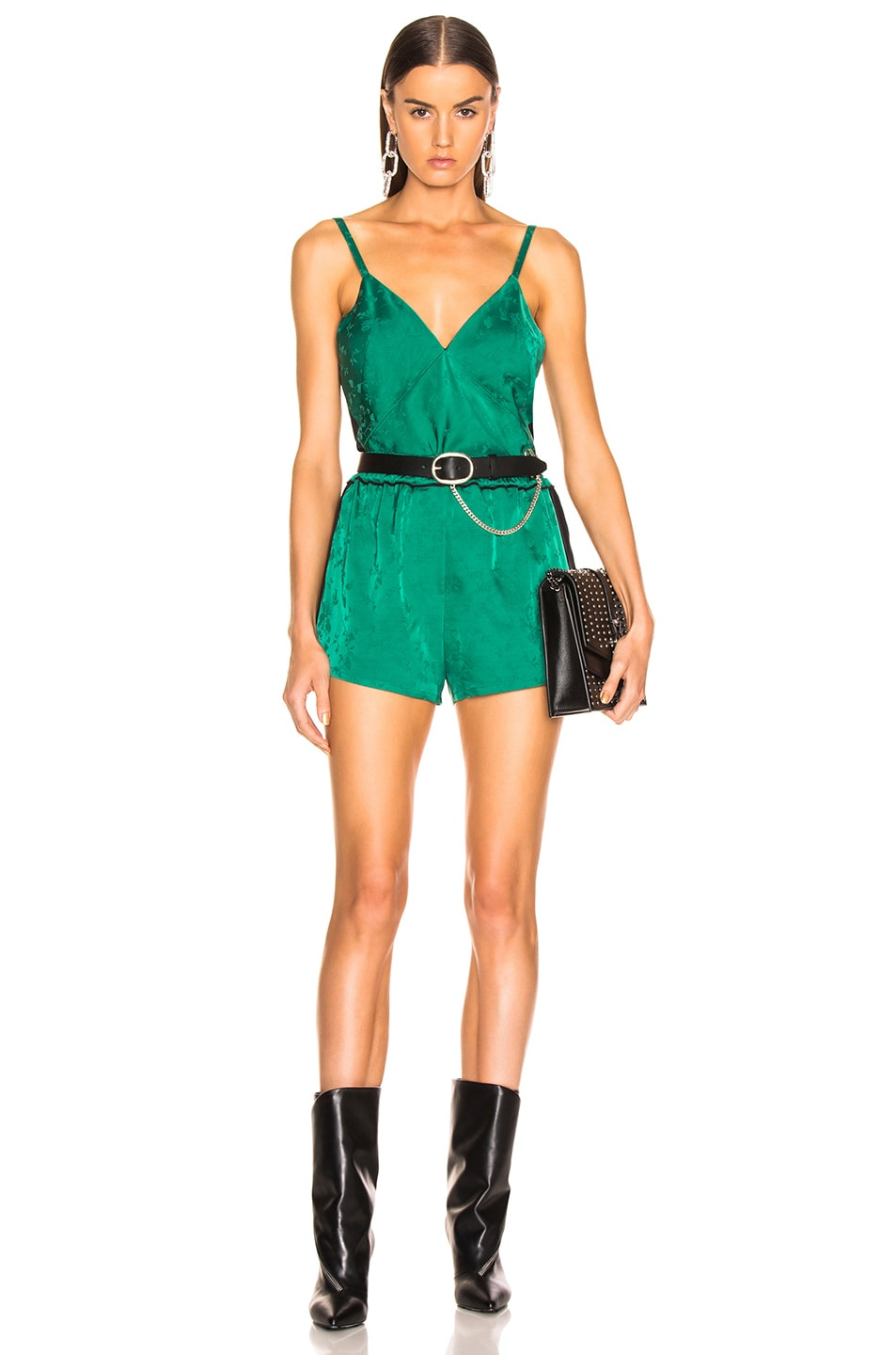 Image 7 of Haider Ackermann Pyjama Set in Gaura Emerald & Sophora Black