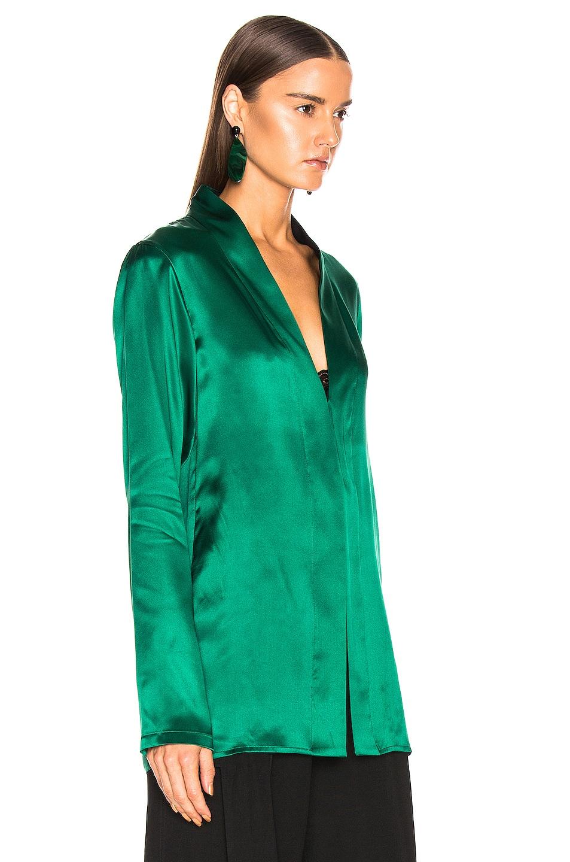 Image 2 of Haider Ackermann Shawl Collar Shirt in Dali Green