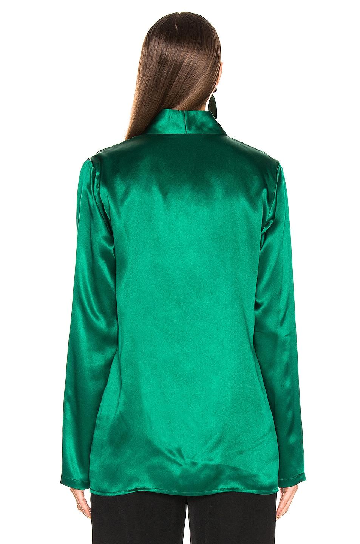 Image 3 of Haider Ackermann Shawl Collar Shirt in Dali Green