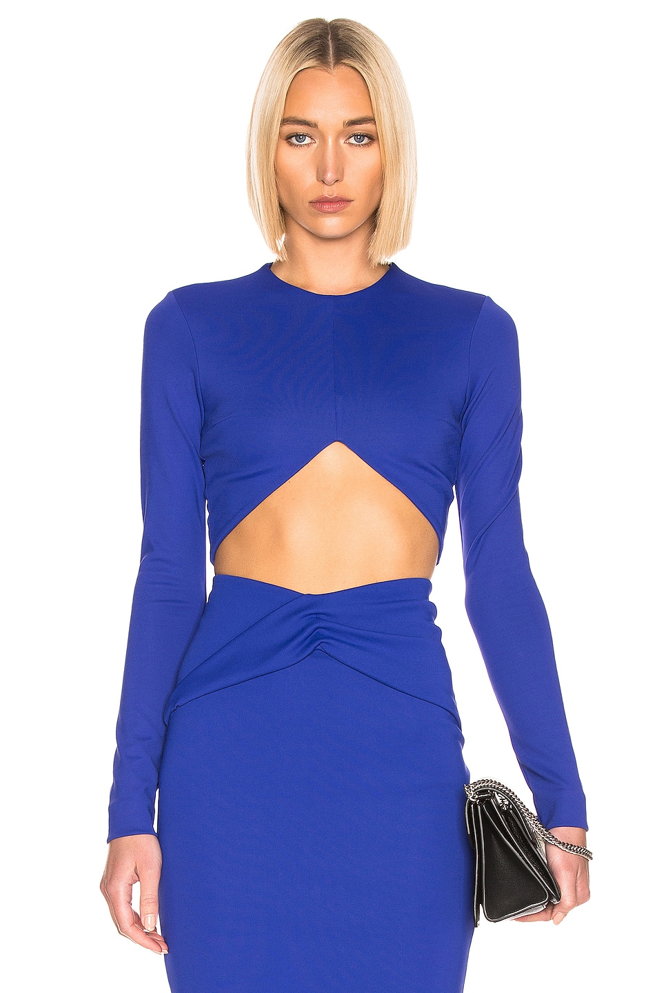 Image 1 of Haider Ackermann Cropped Top in Mankora Blue