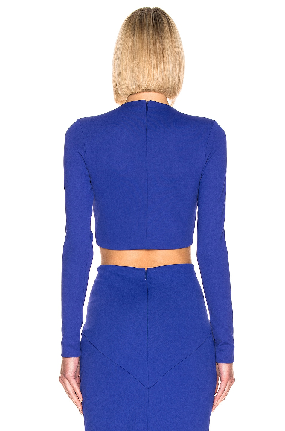 Image 3 of Haider Ackermann Cropped Top in Mankora Blue