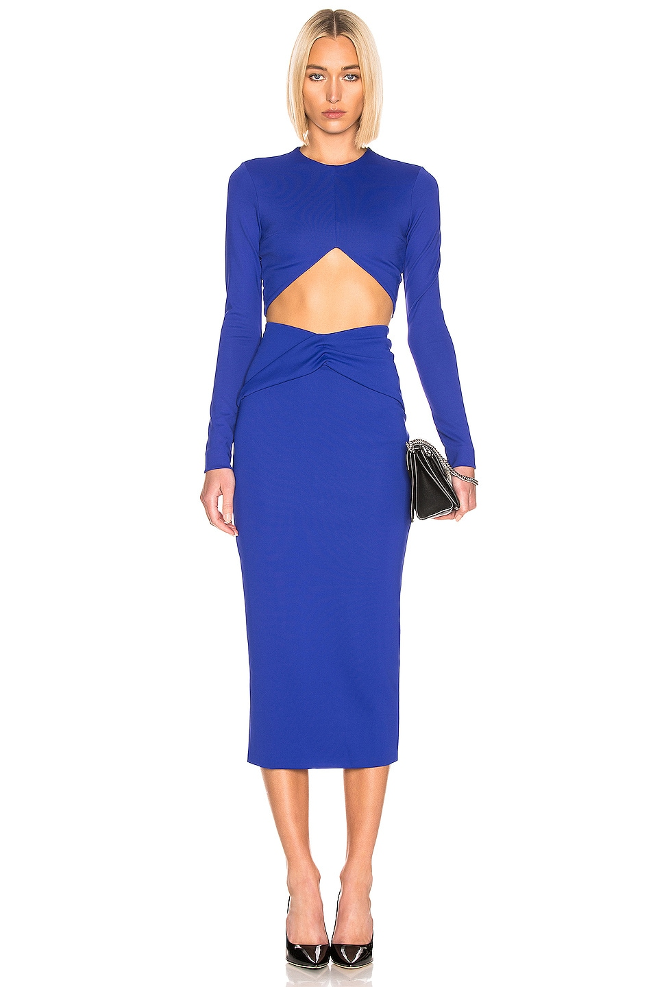 Image 4 of Haider Ackermann Cropped Top in Mankora Blue