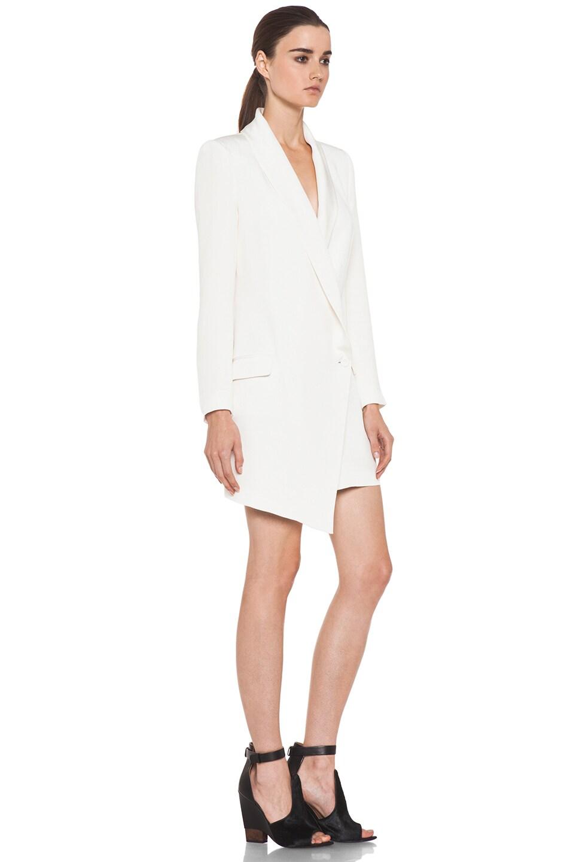 Image 3 of Haute Hippie Extra Long Blazer Dress in Ivory
