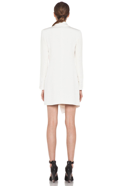 Image 4 of Haute Hippie Extra Long Blazer Dress in Ivory