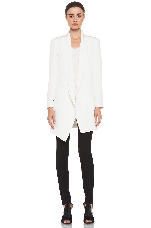 Image 5 of Haute Hippie Extra Long Blazer Dress in Ivory