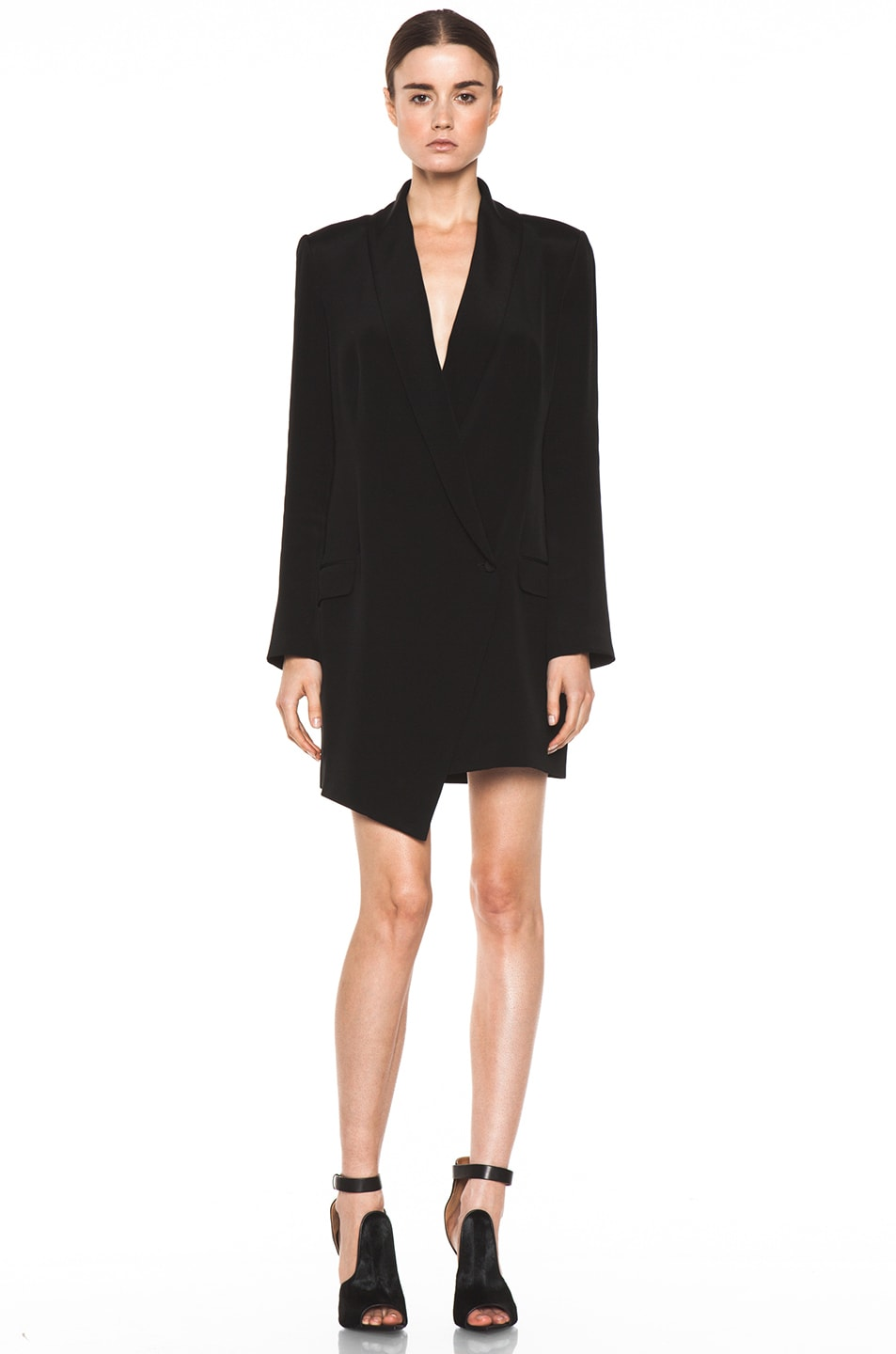 Image 1 of Haute Hippie Extra Long Blazer Dress in Black