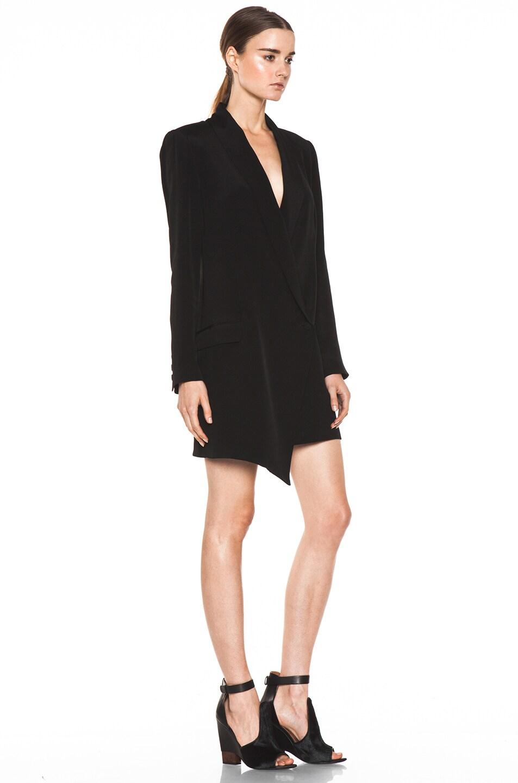 1427f5af14feb3 Image 3 of Haute Hippie Extra Long Blazer Dress in Black