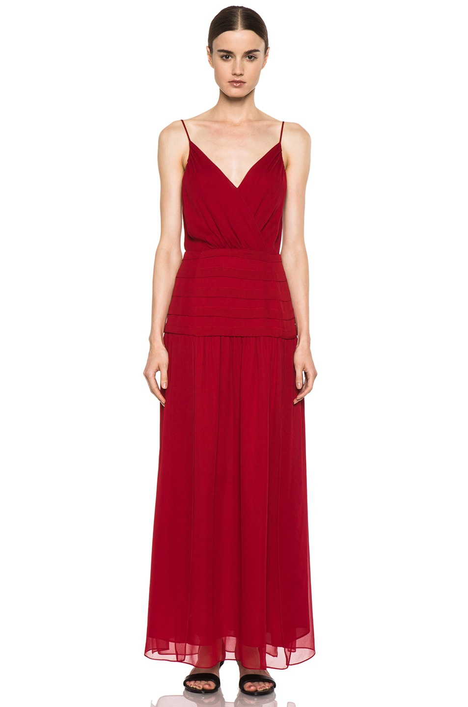 Image 1 of Haute Hippie The Sexy Rachel Silk Dress in Scarlet