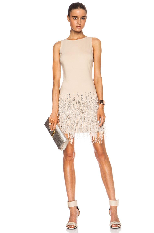 Image 1 of Haute Hippie Slemb Cotton-Blend Dress in Buff
