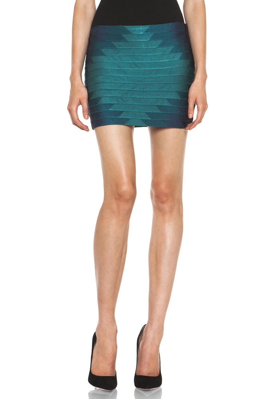 Image 1 of Haute Hippie Aztec Bondage Mini Skirt in Coastal Multi