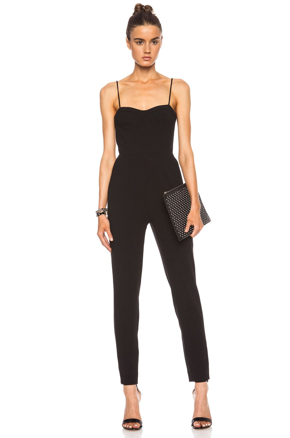 Image 1 of Haute Hippie Bustier Poly-Blend Onesie in Black