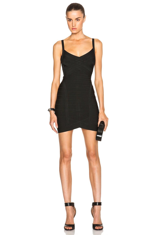 Image 1 of Herve Leger Bandage Mini Dress in Black