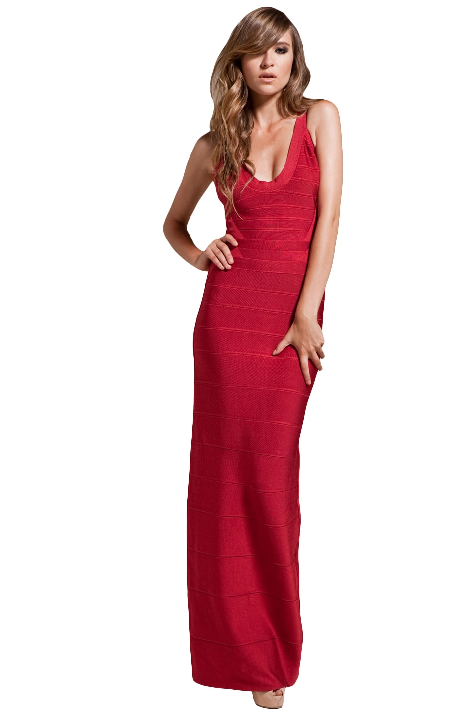 Image 1 of Herve Leger Gown in Scarlet