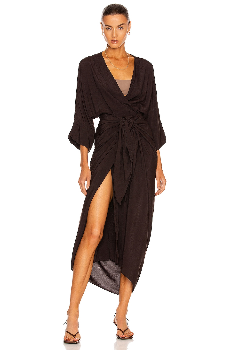 Image 1 of HAIGHT. Ana Dress in Black