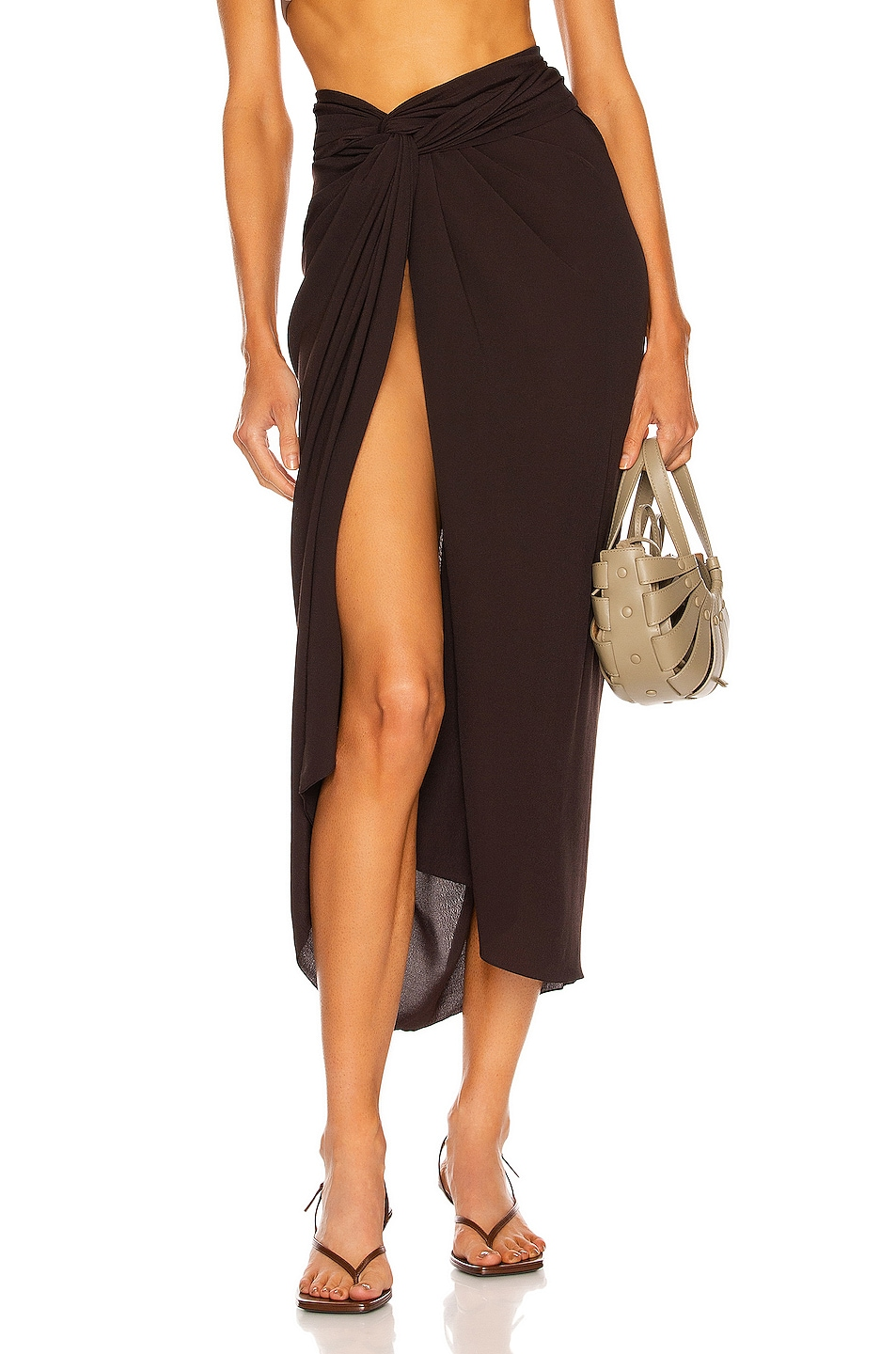 Image 1 of HAIGHT. Panneaux Skirt in Black