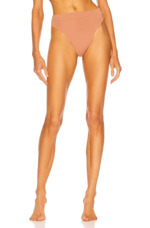 Image 1 of HAIGHT. Hotpants 80's Bikini Bottom in Dusty Rose