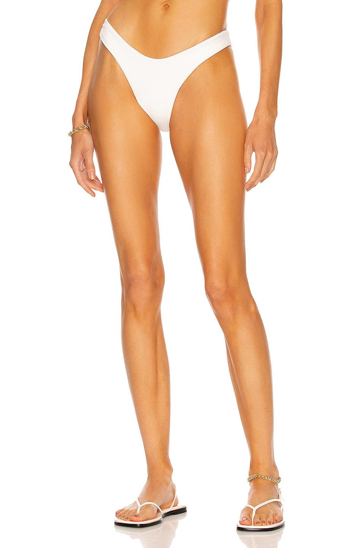 Image 1 of HAIGHT. Crepe Leila Bikini Bottom in Off White