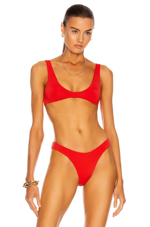 Image 1 of HAIGHT. Juliana Bikini Top in Red Shift