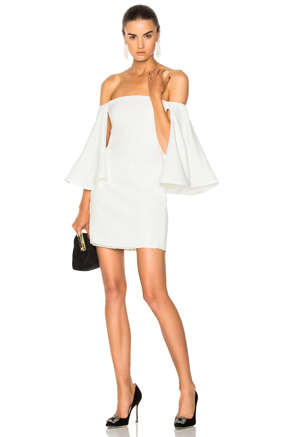 HOUGHTON Houghton For Fwrd Gamila Mini Dress In White