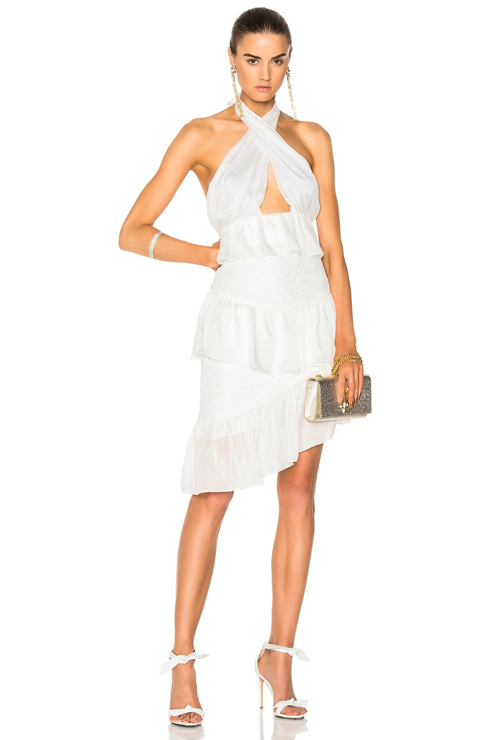 HOUGHTON Houghton For Fwrd Alina Mini Dress In White