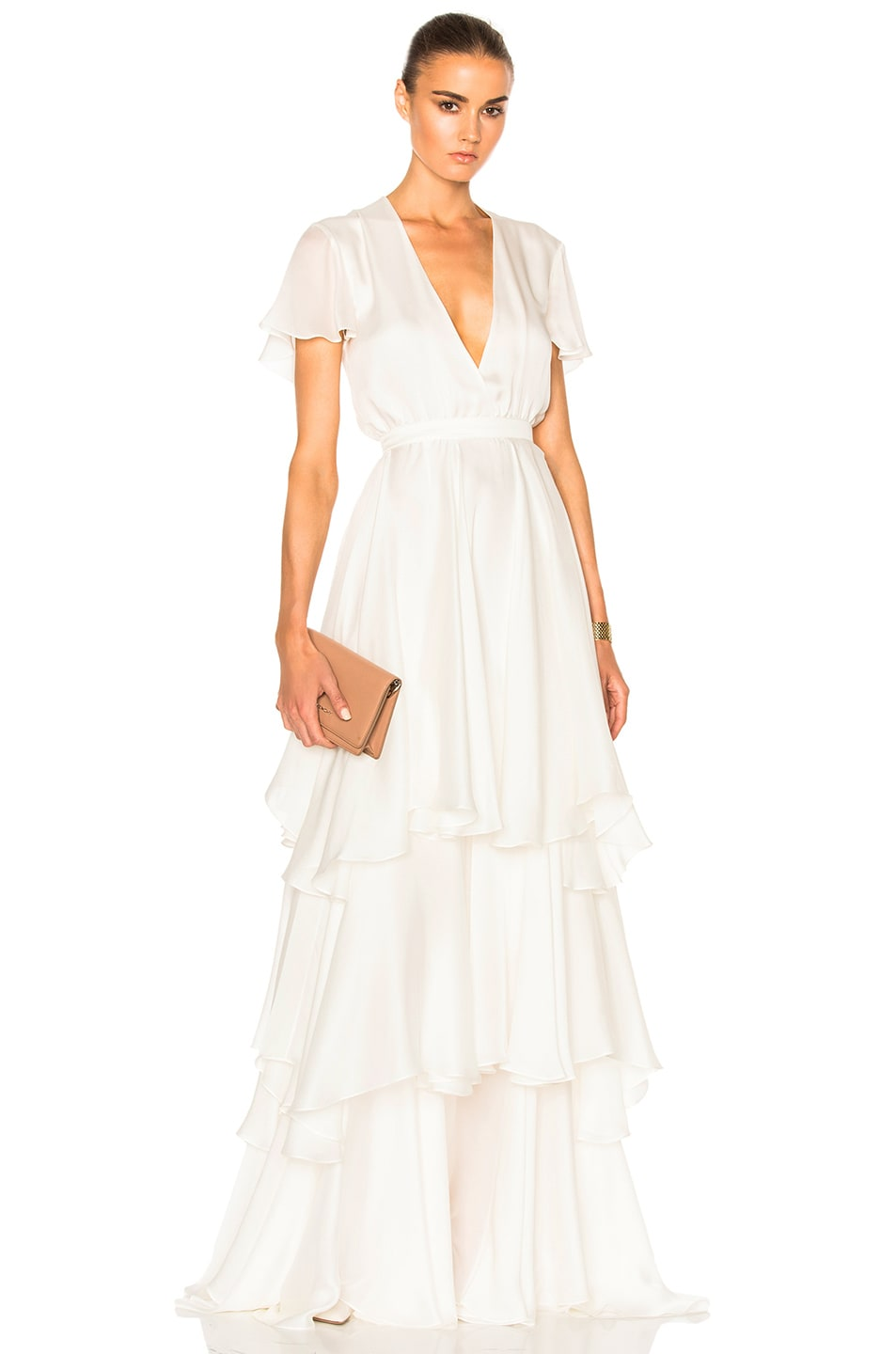 Image 1 of Houghton Marina Gown in White