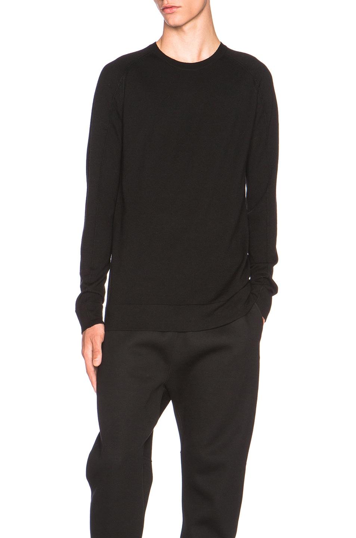 14daf4f415db6 Image 1 of Helmut Lang Fine Wool Crewneck Sweater in Black