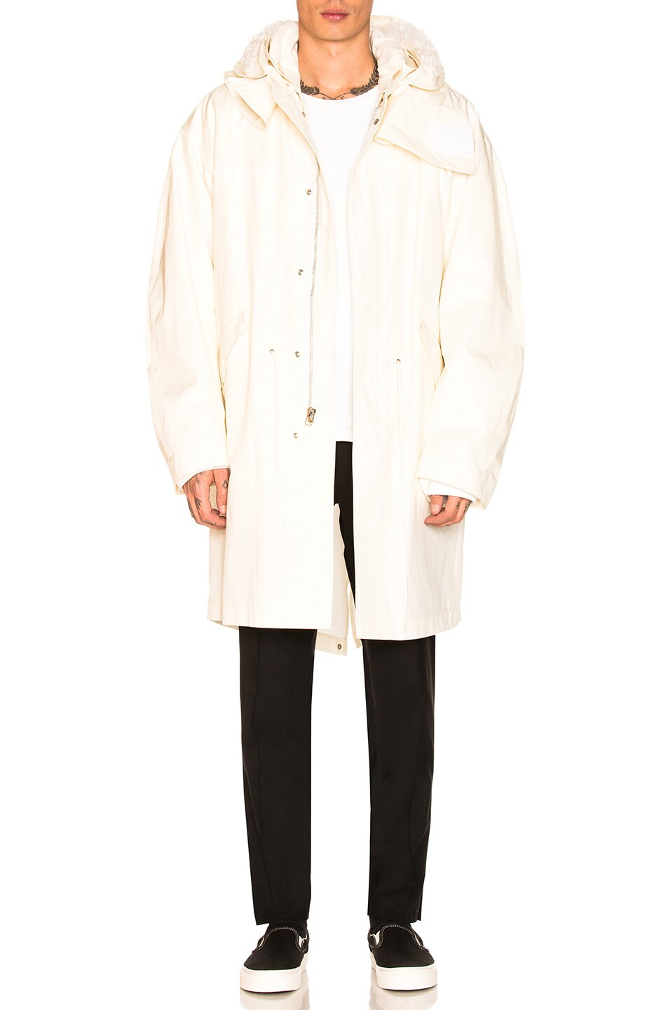 ab52d00fe3bd Image 1 of Helmut Lang Re-Edition Hooded Parka in Off White