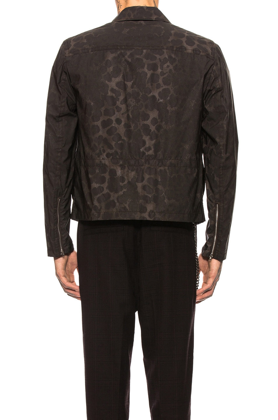Image 4 of Helmut Lang Unlined 3M Classic Zip Jacket in Chocolate