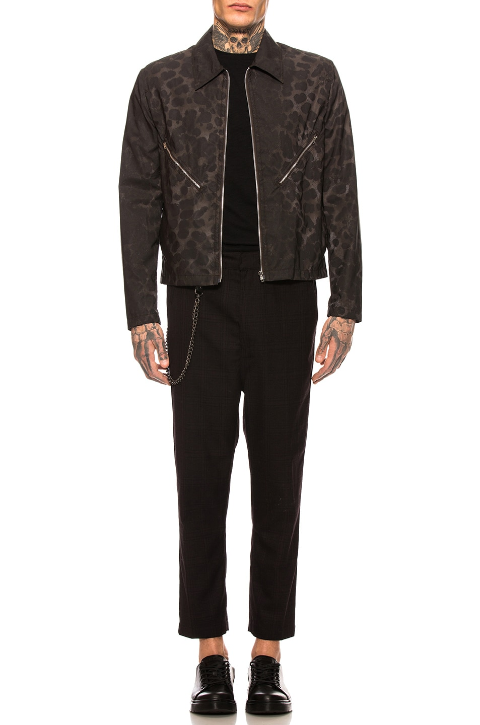 Image 6 of Helmut Lang Unlined 3M Classic Zip Jacket in Chocolate