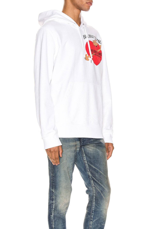 Image 3 of Helmut Lang PZ Valentine Standard Hoodie in Chalk White