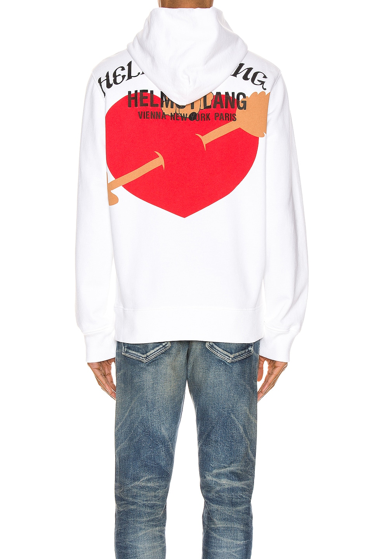 Image 4 of Helmut Lang PZ Valentine Standard Hoodie in Chalk White