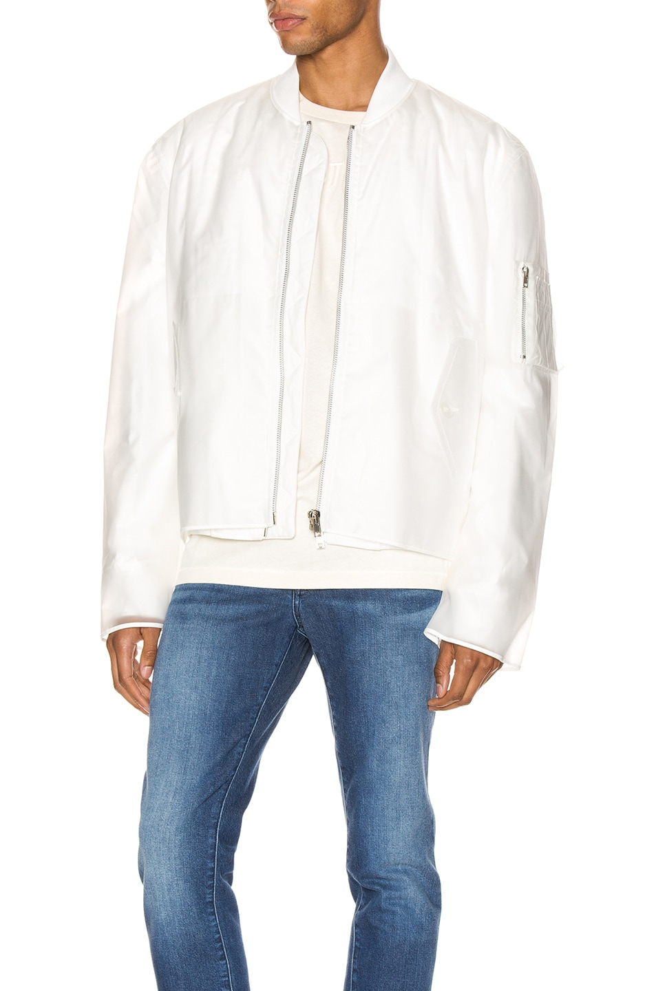 Image 1 of Helmut Lang Transparent Bomber in Clear