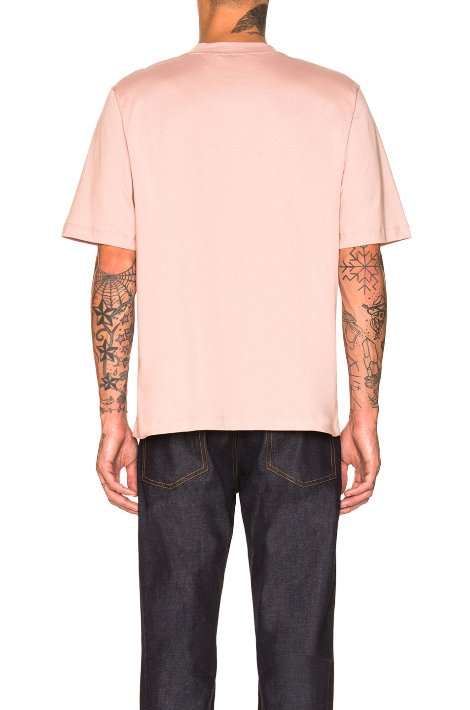 Image 3 of Helmut Lang Logo Tall Tee in Desert Rose